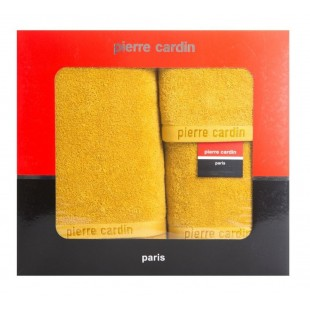 3- časťový komplet uterákov a osušky v horčicovej farbe Pierre Cardin