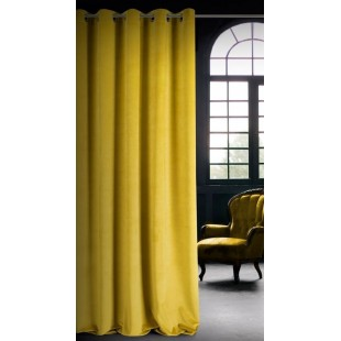 Matný horčicovo žltý záves na okno