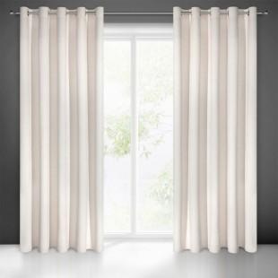 Matný jednofarebný svetlobéžový záves na okno