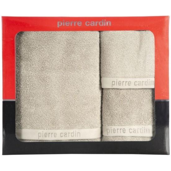 3- časťový komplet uterákov a osušky v béžovej farbe Pierre Cardin
