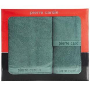 3- časťový komplet uterákov a osušky v tmavozelenej farbe Pierre Cardin