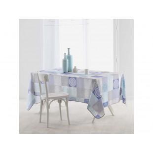 Modrý obrus na stôl do kuchyne so vzorom mantra