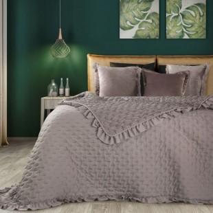 Staroružový prehoz na posteľ s ozdobným lemom