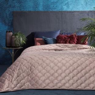 Staroružový dekoračný prehoz na posteľ s ozdobným vzorom rybích šupín