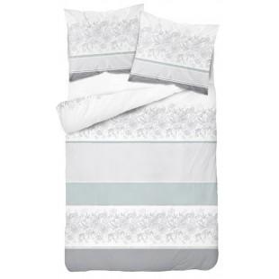 Bielo mentolovo sivé obojstranné posteľné obliečky s elegantným vzorom
