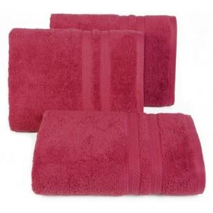 Bavlnený malinový jednofarebný uterák