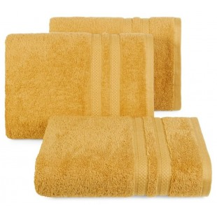 Bavlnený žltý jednofarebný uterák