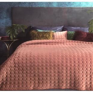 Tehlový prešívaný prehoz na posteľ s guličkami