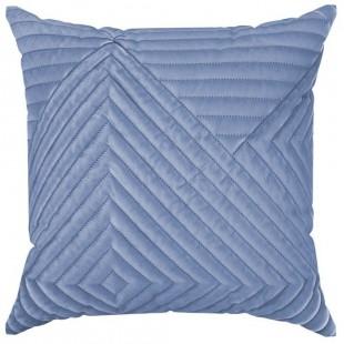 Modrá ozdobná obliečka na vankúš s prešívaním