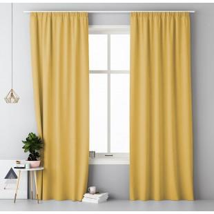Žltý jednofarebný záves s riasiacou páskou