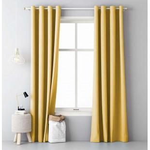 Jednodielny pastelový záves žltej farby
