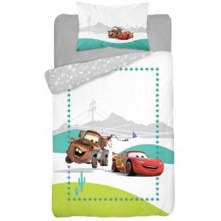 Bavlnené posteľné obliečky pre deti AUTÁ sivej farby