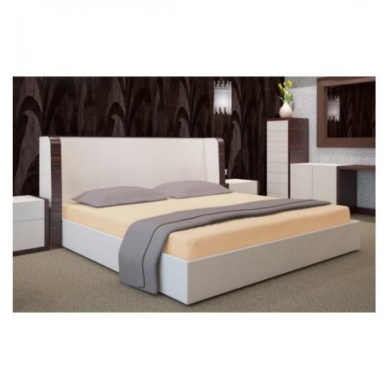 Morelová posteľná plachta s gumičkou Jersey