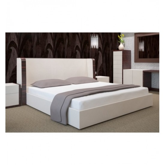 Kvalitná jersey biela posteľná plachta s gumičkou