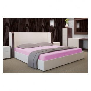 Jersey tmavo ružová posteľná plachta s gumičkou