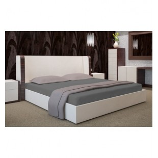 Tmavosivá posteľná plachta s gumičkou Jersey