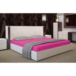 Jersey ružová posteľná plachta s gumičkou