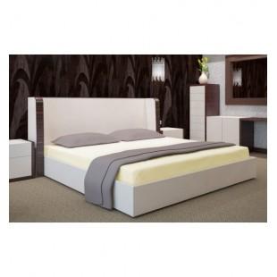 Svetlo krémová posteľná plachta s gumičkou jersey