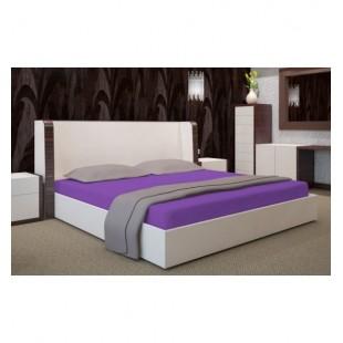 Jersey fialová posteľná plachta s gumičkou