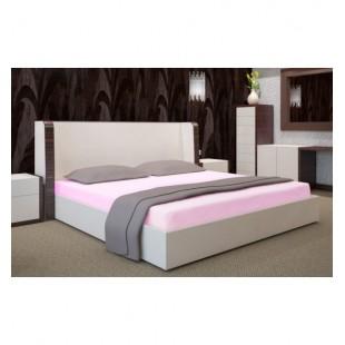 Svetlo ružová jersey posteľná plachta s gumičkou