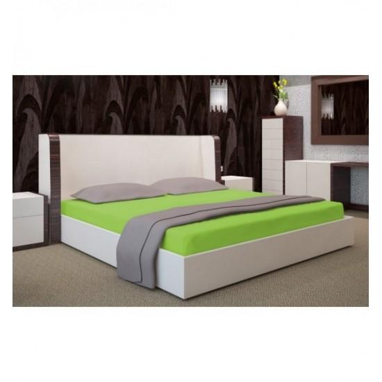 Jersey posteľná plachta jablčkovej farby s gumičkou