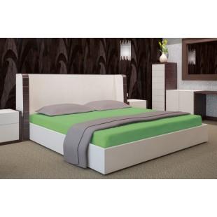 Zelené mikrovláknové posteľné prestieradlo bez napínacej gumičky