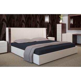 Sivé mikrovláknové posteľné prestieradlo bez napínacej gumičky