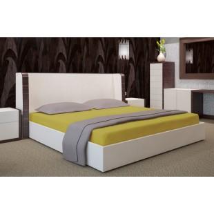 Žlté mikrovláknové posteľné prestieradlo bez napínacej gumičky