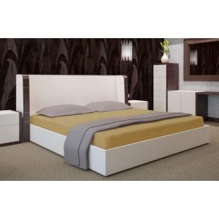 Béžové mikrovláknové posteľné prestieradlo bez napínacej gumičky