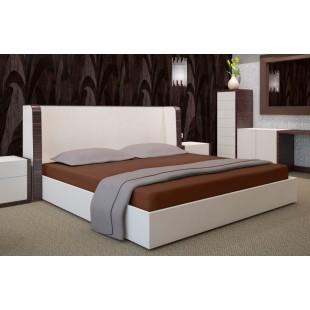 Svetlohnedé mikrovláknové posteľné prestieradlo bez napínacej gumičky