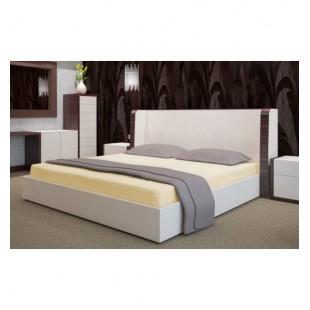 Béžové froté posteľné prestieradlo s gumičkou