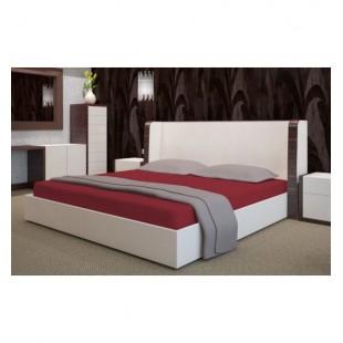 Bordová froté posteľná plachta s gumičkou