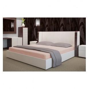 Kapučínová froté posteľná plachta s gumičkou