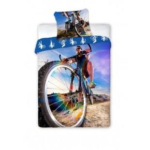 Bavlnené posteľné obliečky s cyklistom