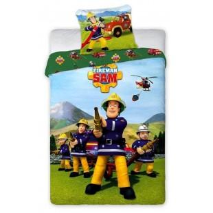 Bavlnené posteľné obliečky pre deti požiarnik Sam
