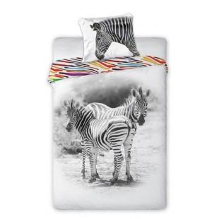 Bavlnené posteľné obliečky so zebrou