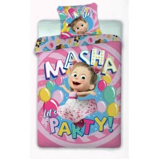 Bavlnené posteľné obliečky pre deti Máša a medveď