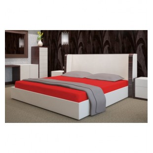Mäkká červená posteľná froté plachta s gumičkou