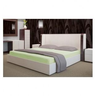 Svetlo zelená posteľná froté plachta s gumičkou