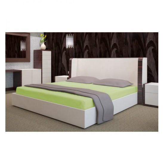 Pistáciová posteľná froté plachta s gumičkou