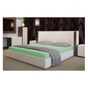 Froté posteľná plachta s gumičkou v seledynovej farbe