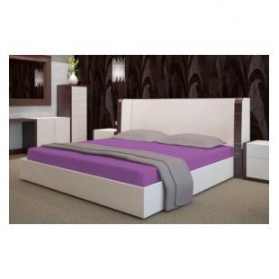 Froté slivková posteľná plachta s gumičkou