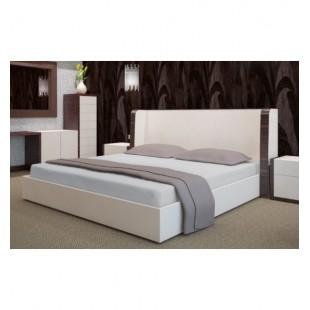 Svetlo sivé froté posteľné prestieradlo s gumičkou