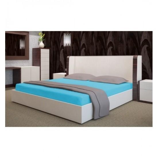 Froté tyrkysová posteľná plachta s gumičkou