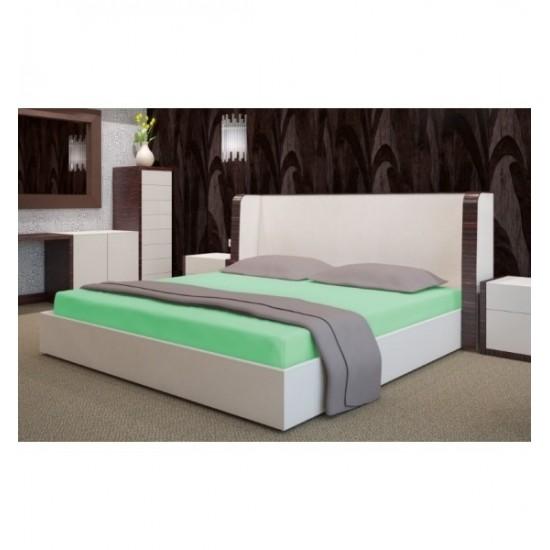 Zelená posteľná froté  plachta s gumičkou
