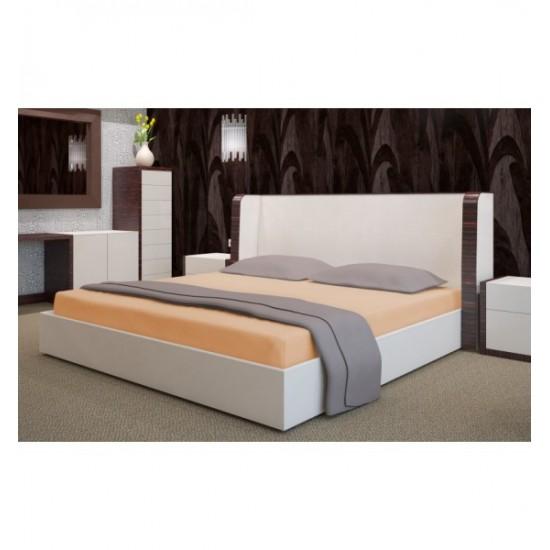 Lososová froté posteľná plachta s gumičkou
