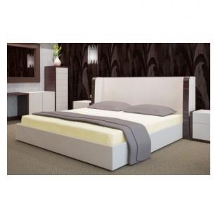 Svetlo krémové froté posteľné prestieradlo s gumičkou