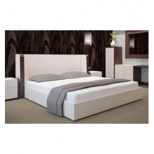 Klasická posteľná plachta zo saténovej bavlny bez gumičky v bielej farbe