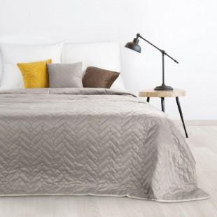 Béžový jednofarebný obojstranný mäkký prehoz na posteľ