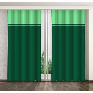 Dvojfarebný zelený záves na háčiky